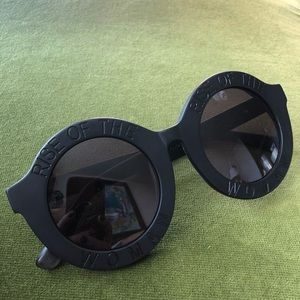 "Accessories - ""Rise of the woman"" Black sunglasses"